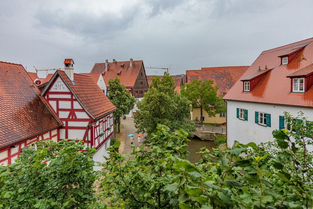 Rainy day in Nördlingen, Germany