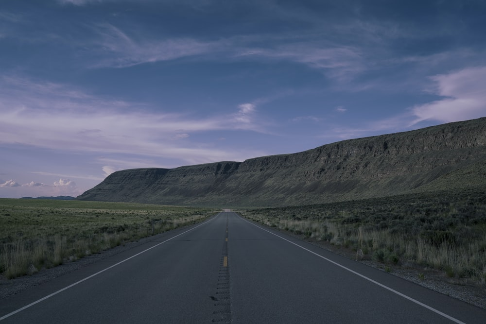 empty pave road