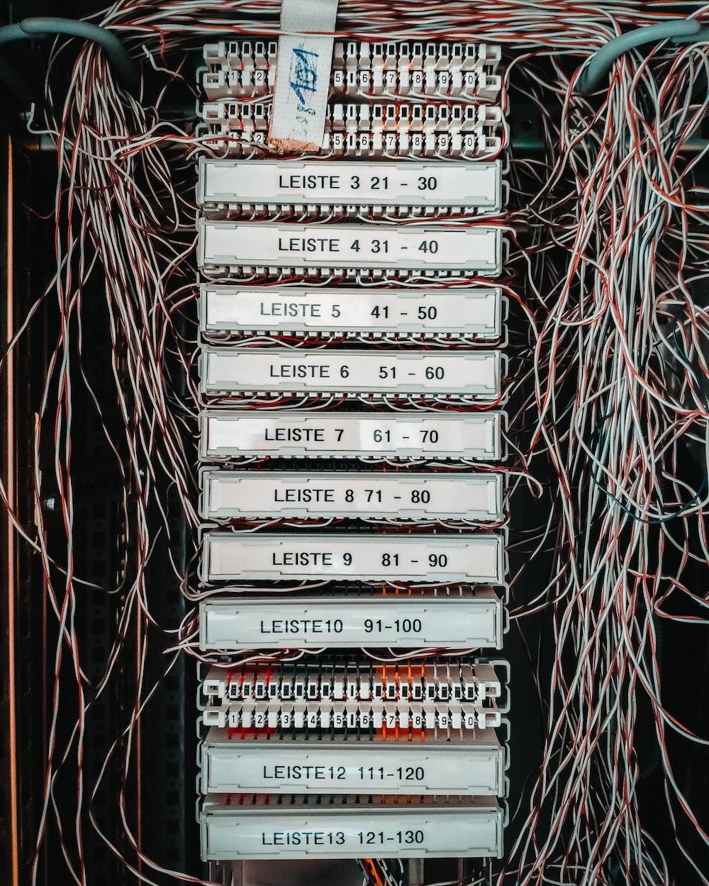 multicolored coated wire