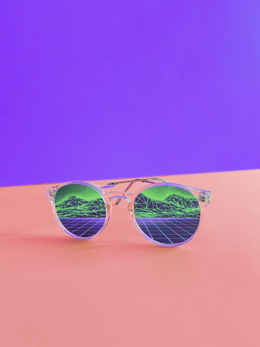 white framed sunglasses close-up photography