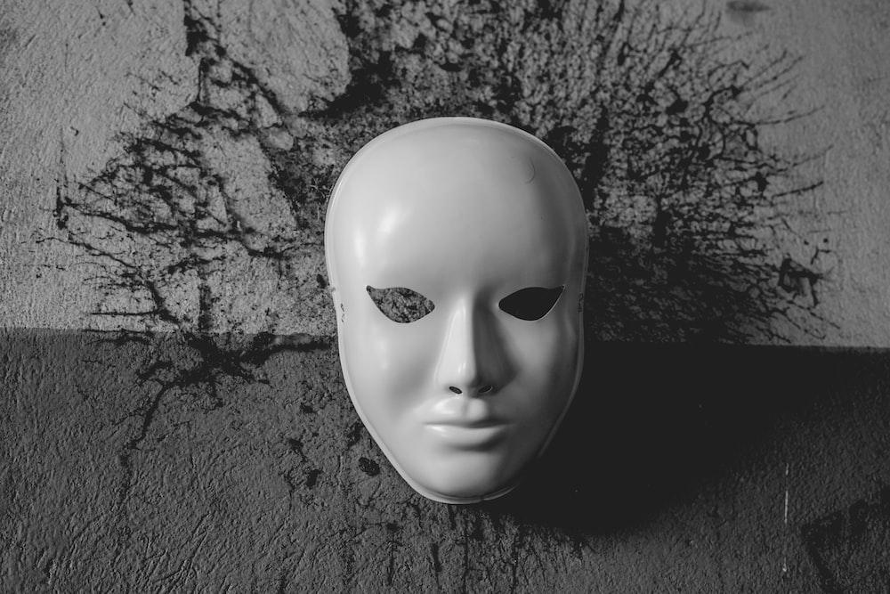 mask on wall