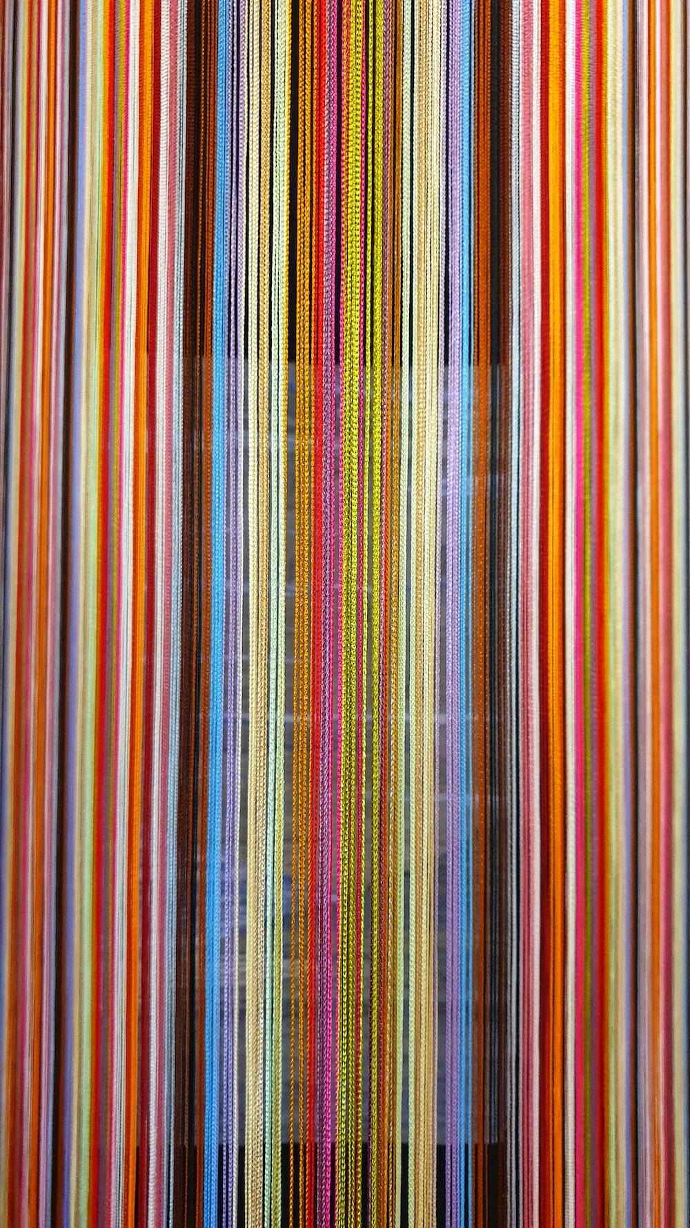 multicolored striped wallpaper