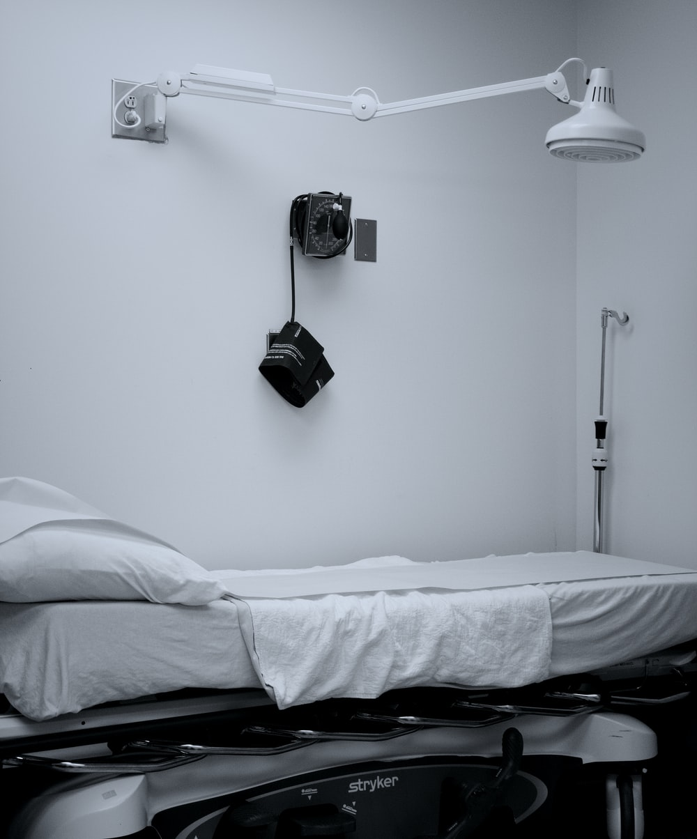 white medication bed