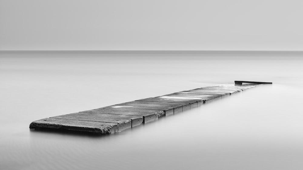 black wooden dock