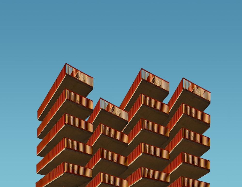 brown building illustration
