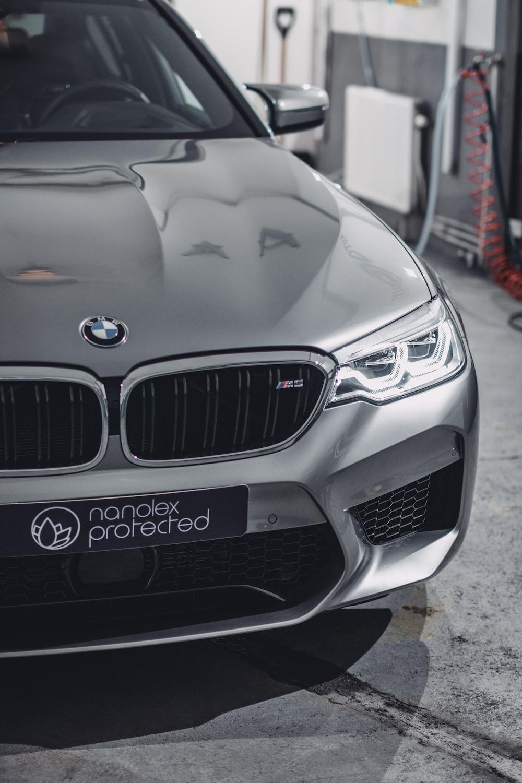 grey BMW car