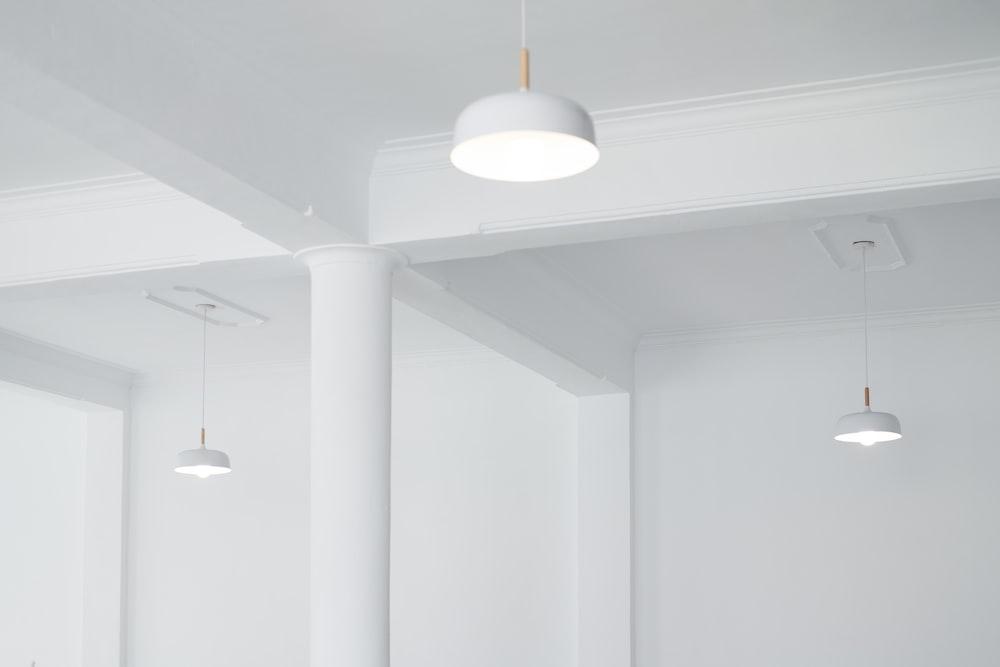 grey pendant lamps