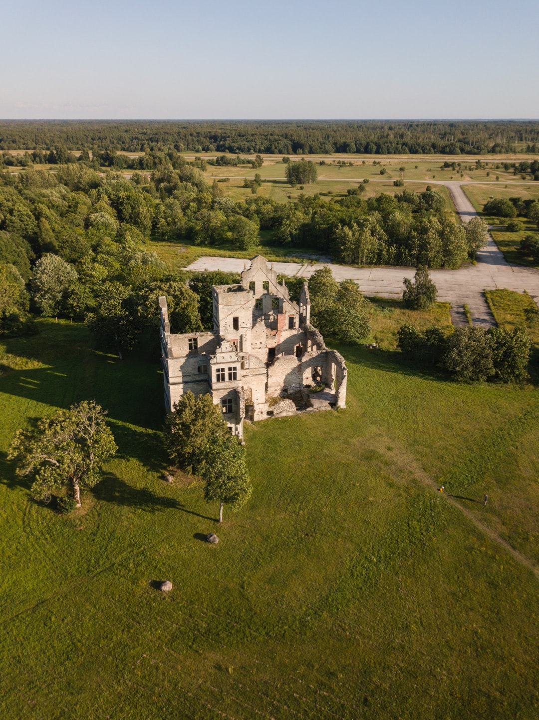 Ungru manor in western Estonia, near a town called Haapsalu. Construction of this building was left standing still in 1899 and it has been falling into pieces since.