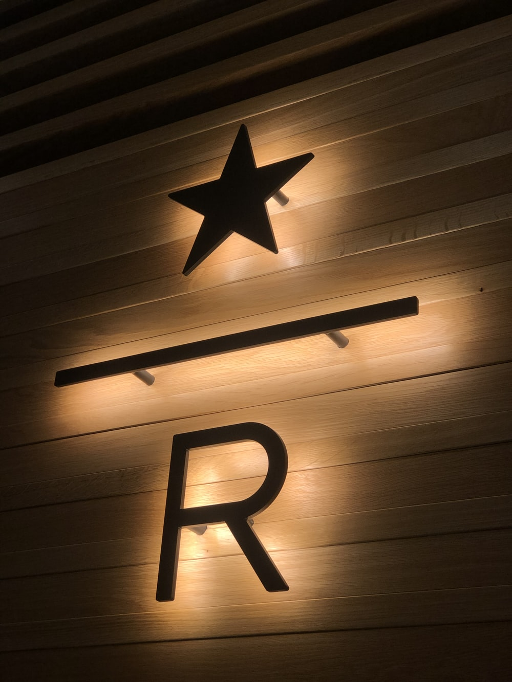 brown star and r signage