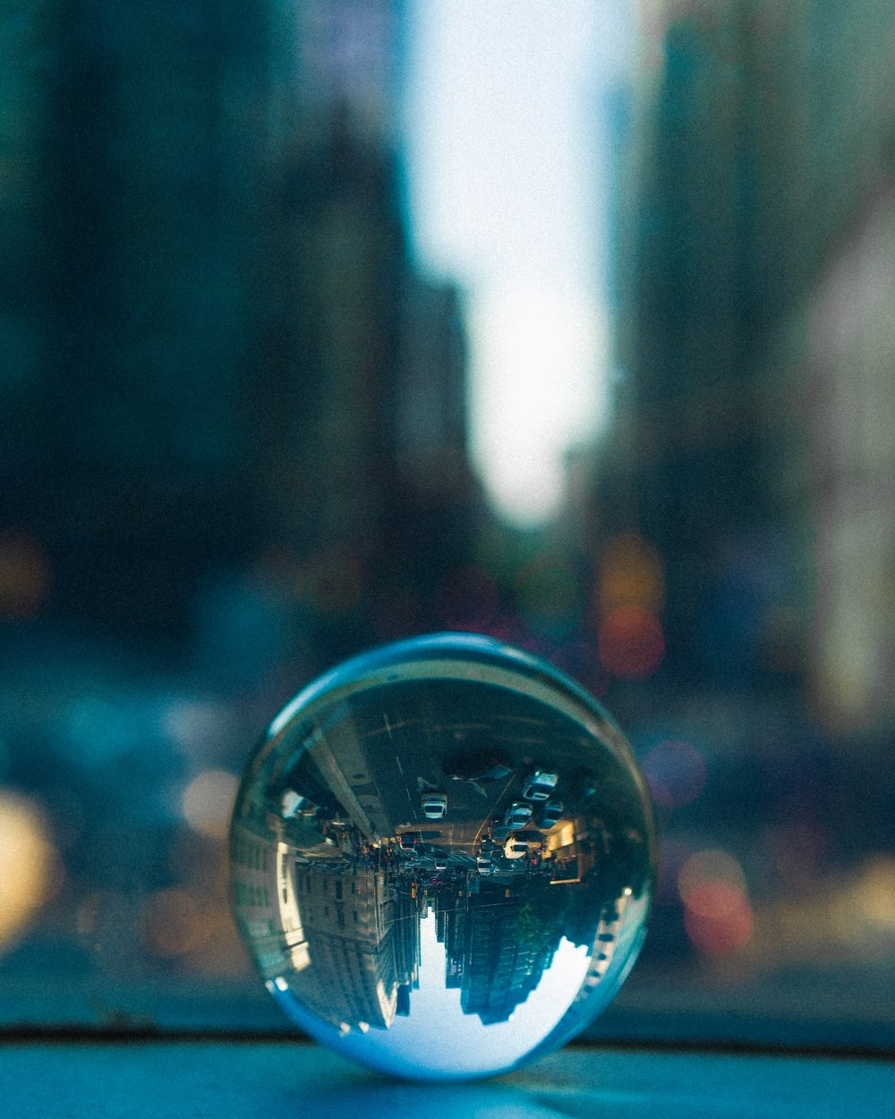 clear glass ball decor