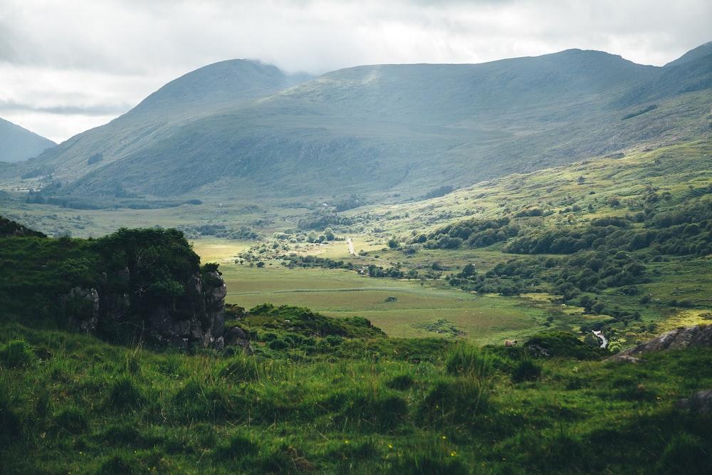 green mountain at daytime