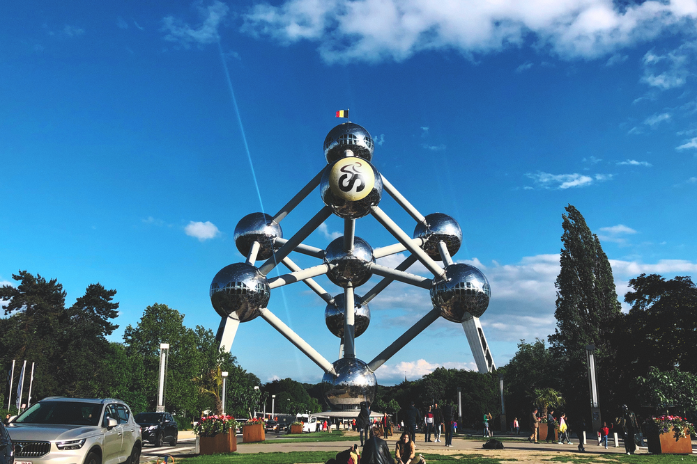 Atomium in Brussels during daytime