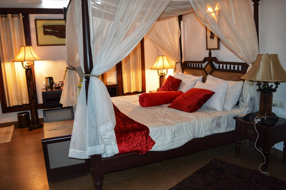 red and white comforter set