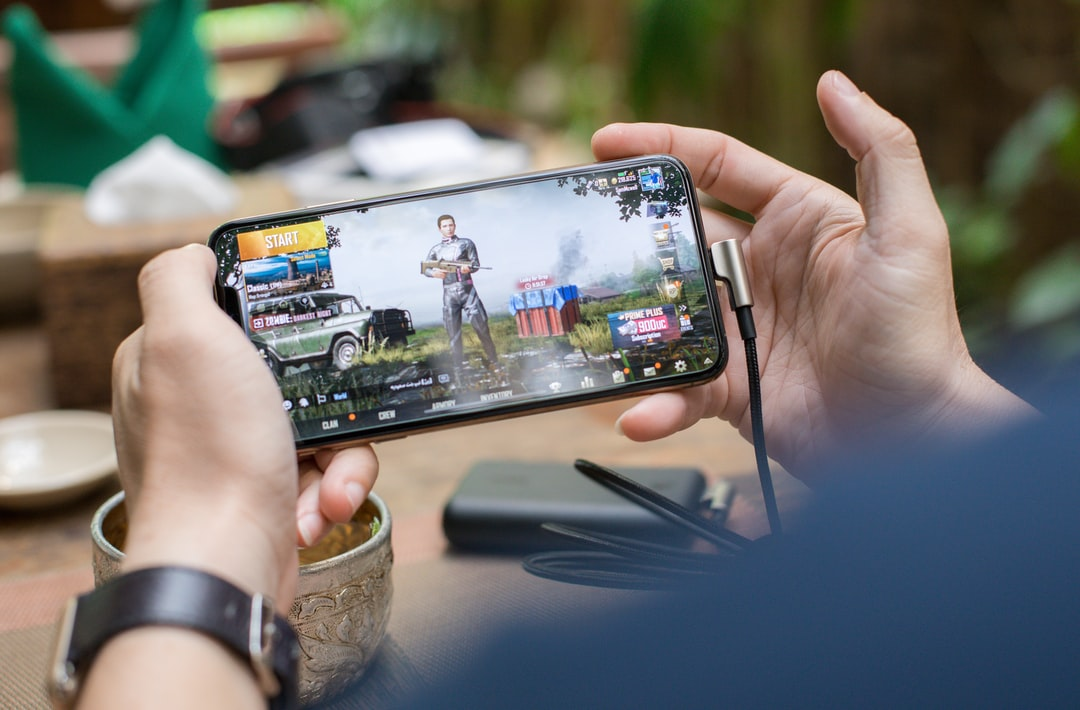 """Playing Pubg Game On Smartphone"""