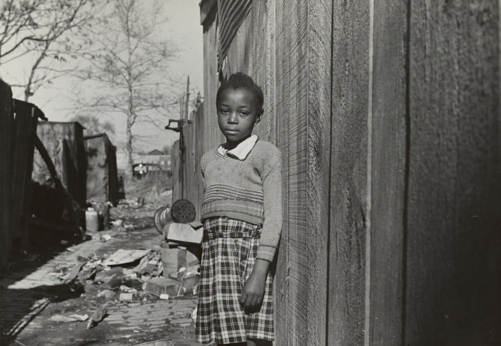 historical photo of child in slum