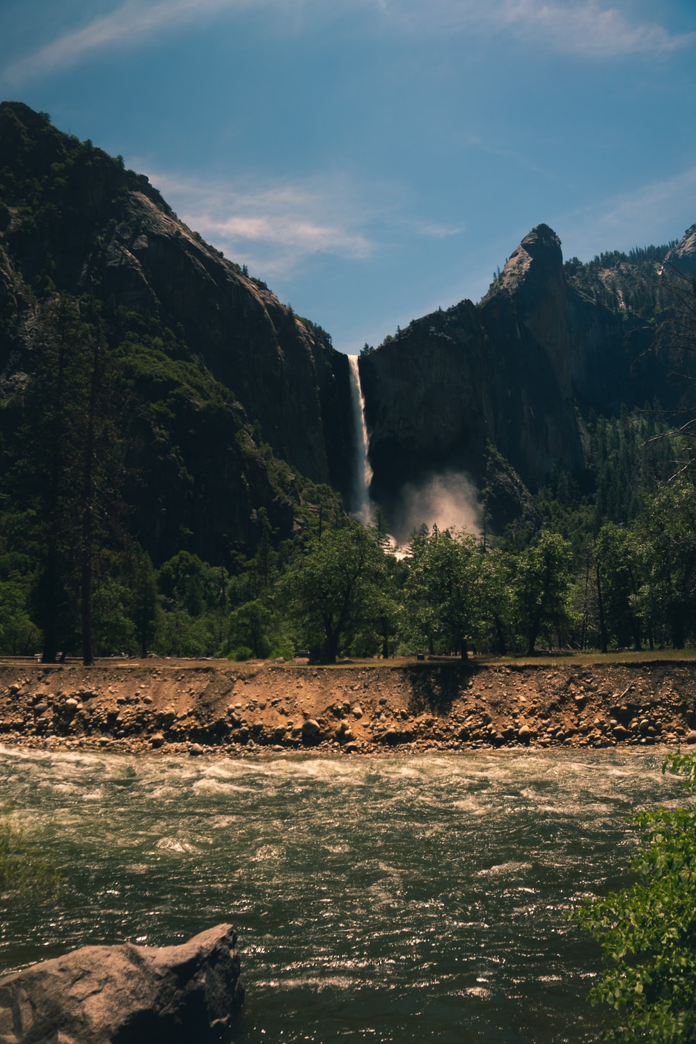 landscape photo of waterfalls during daytime