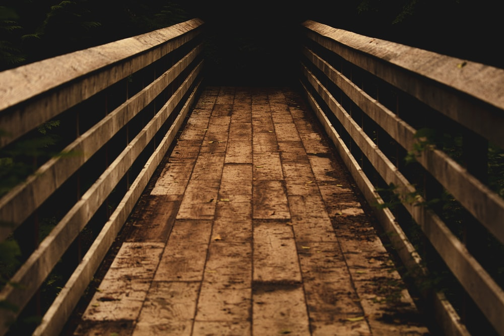 brown wooden bridge