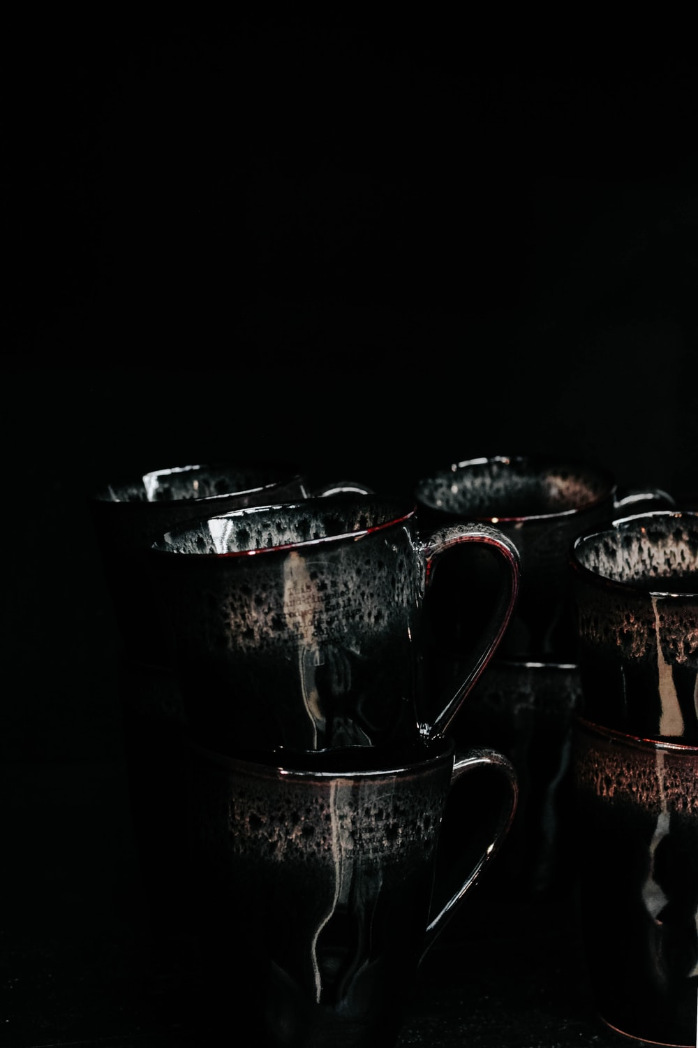 mugs on table