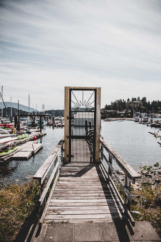 black metal dock gate