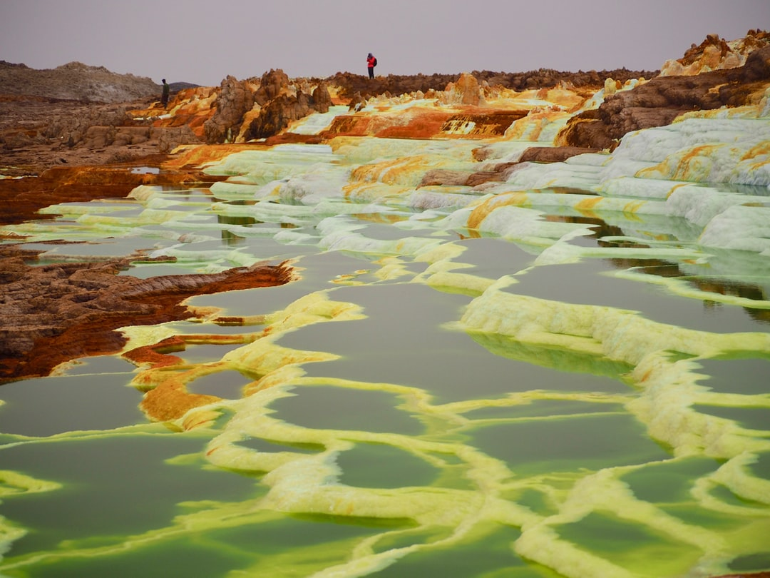 Hot springs in the Danakil Depression in Ethiopia's Afar region