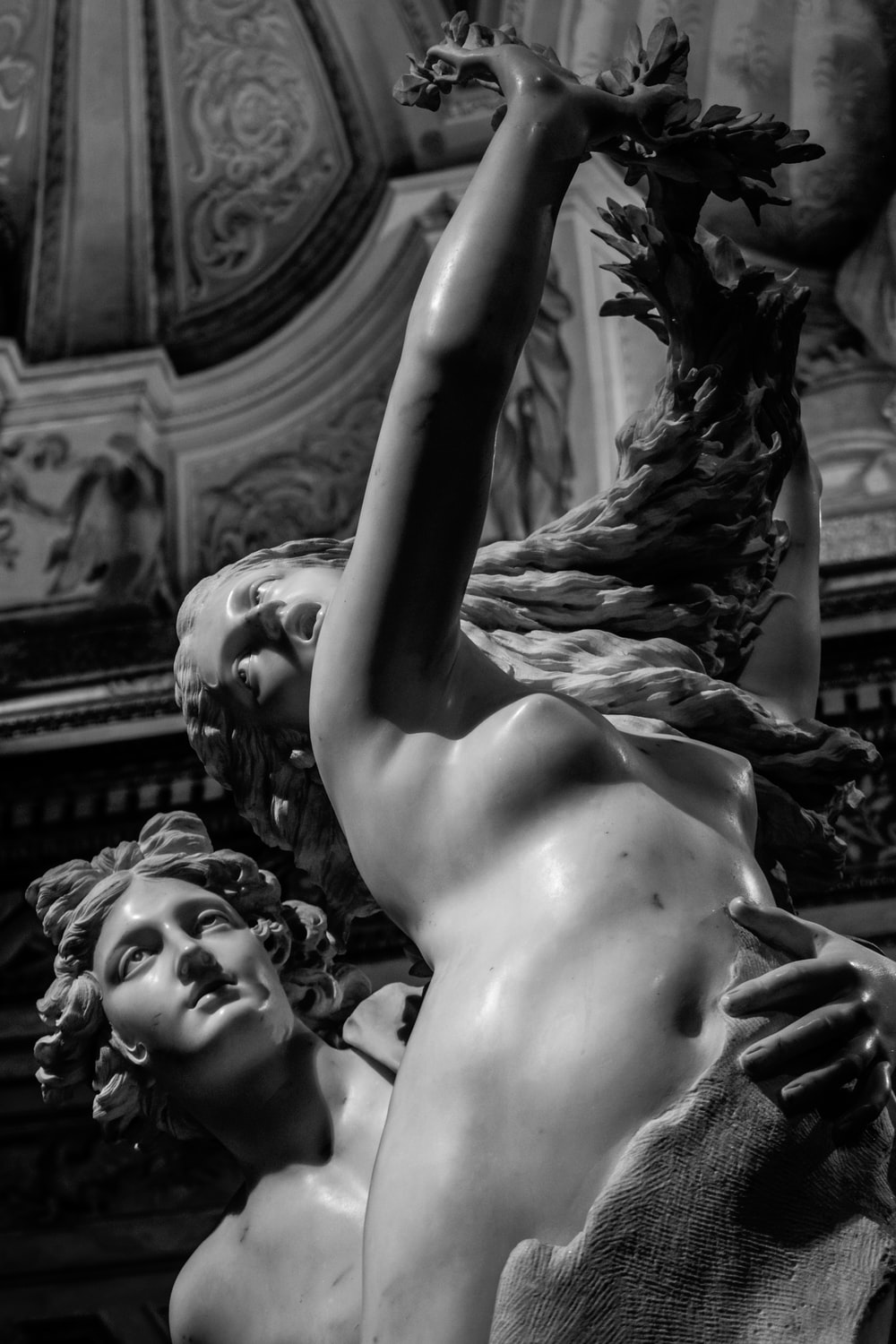 nude woman and man statue