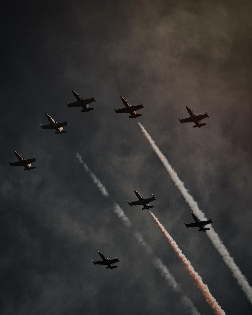planes on sky