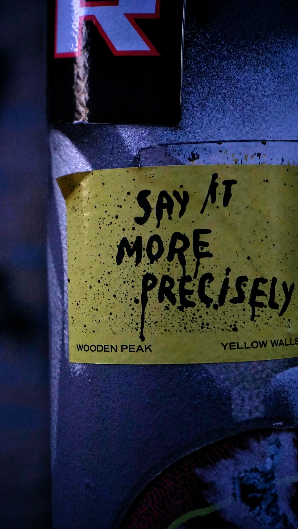 say it more precisely printed sticker