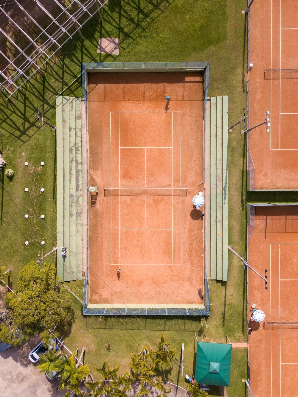 bird's-eye photography of sports field