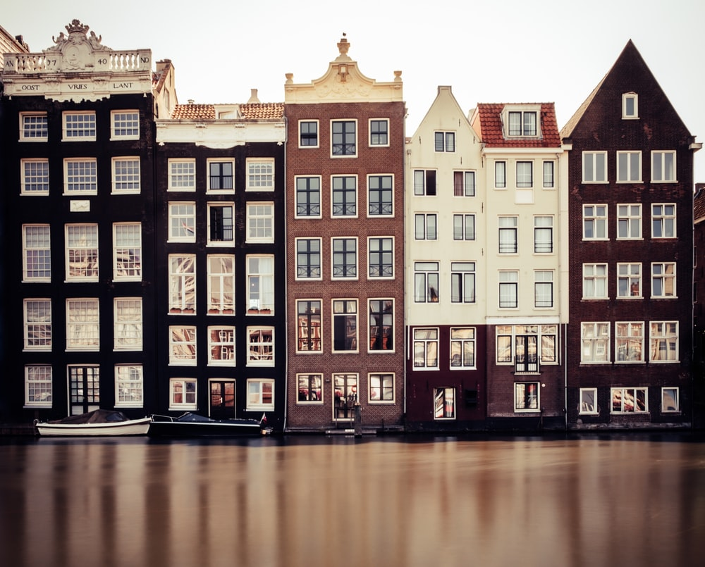 brown, black, and white houses