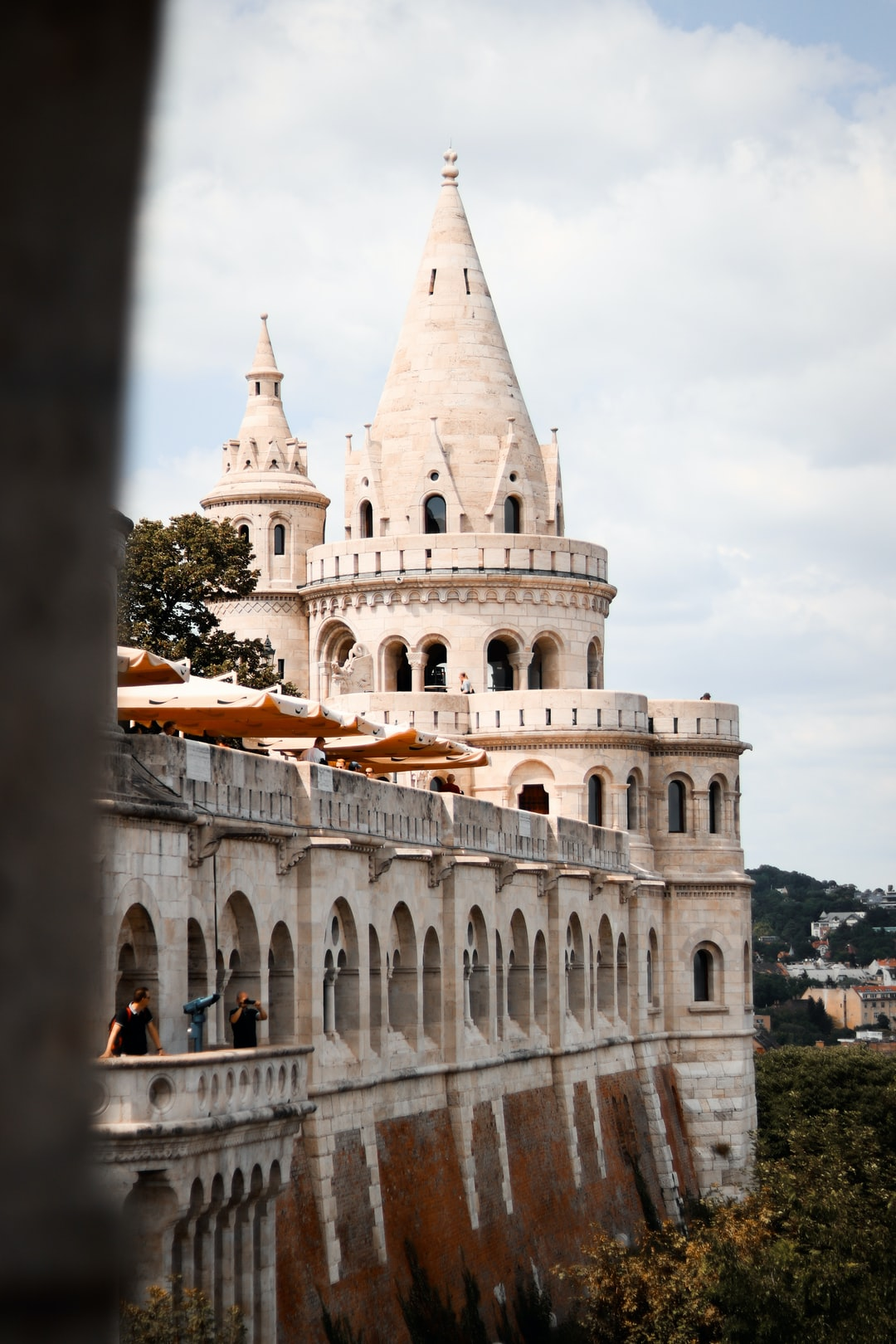 One of the fantastical towers of the Fisherman's Bastion