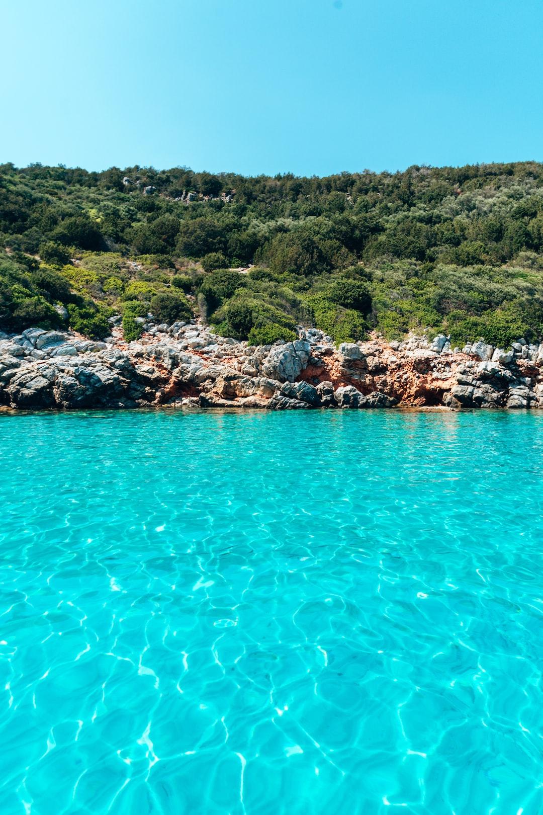 Shots from a boat trip to Orak Island Bay near Bodrum, Turkey. The Aegean Sea / Mediterranean