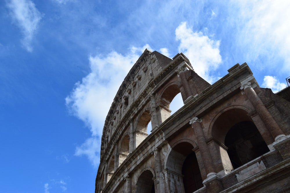 low-angle photography of Colosseum