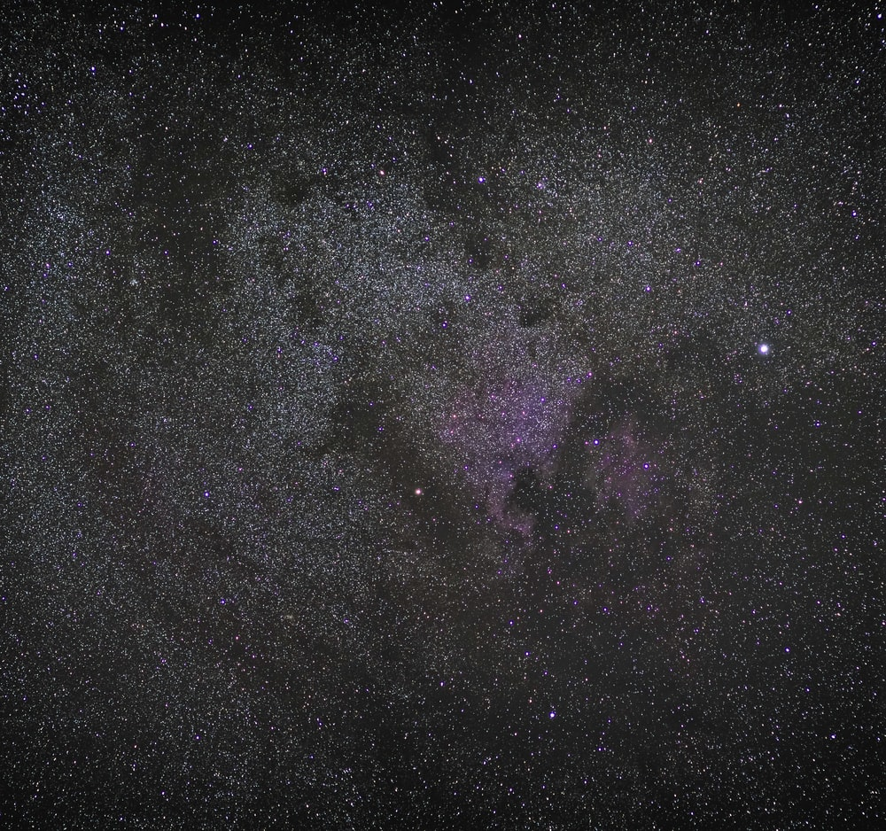 black and purple milky way