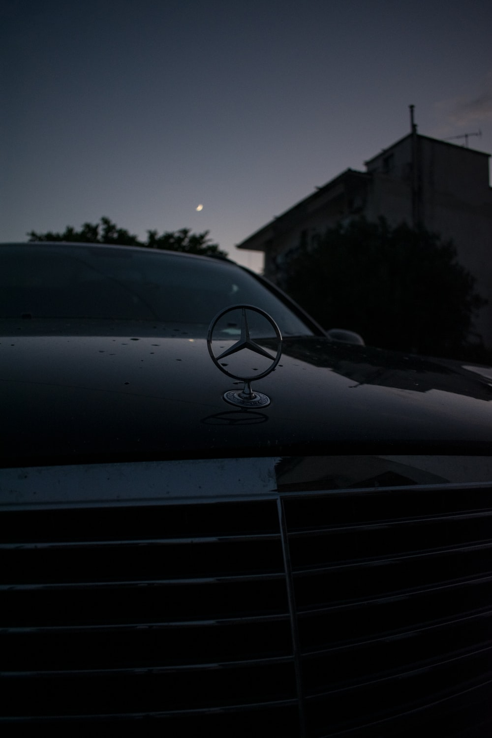 black Mercedes-Benz vehicle