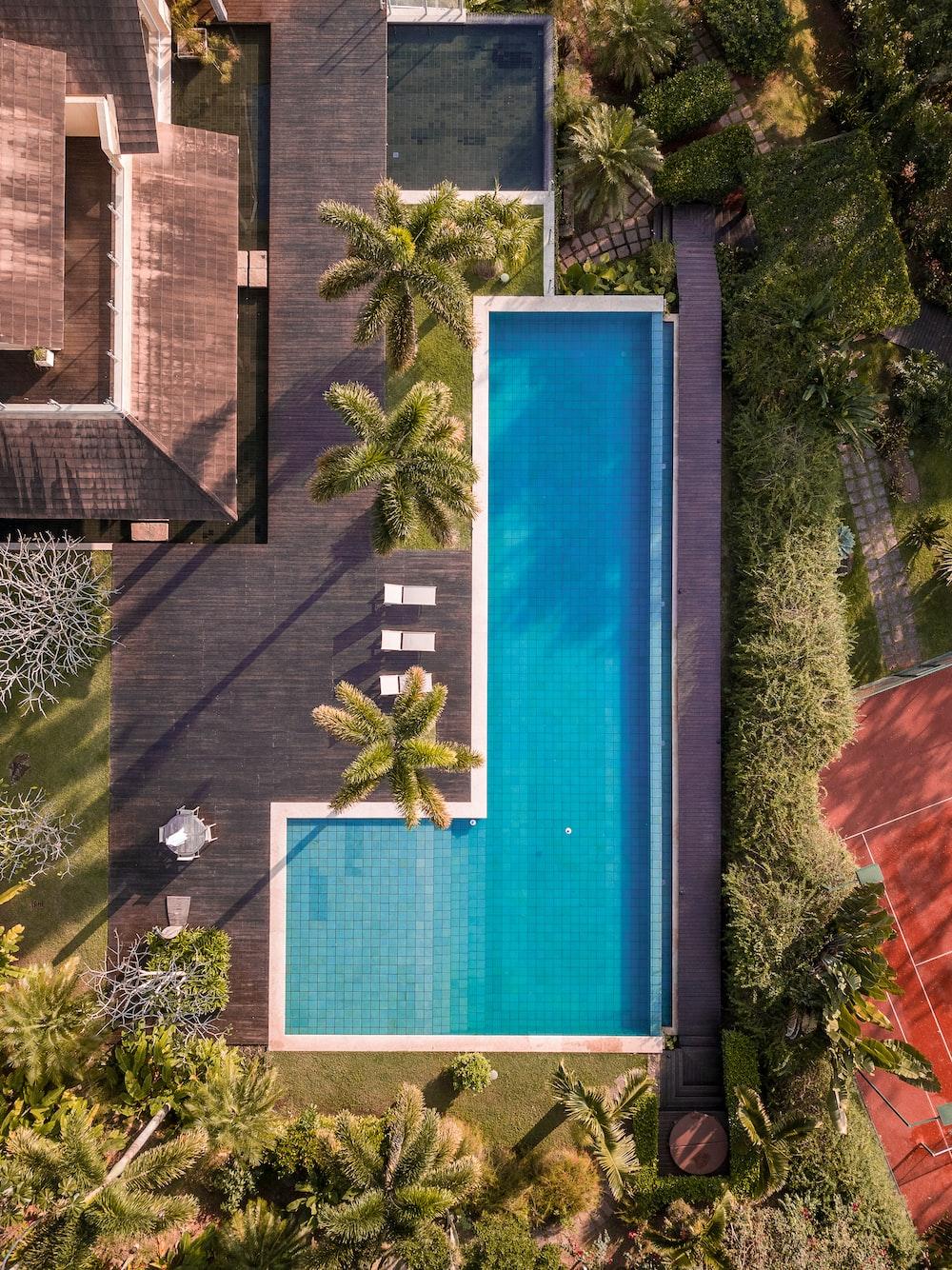 white-framed swimming pool