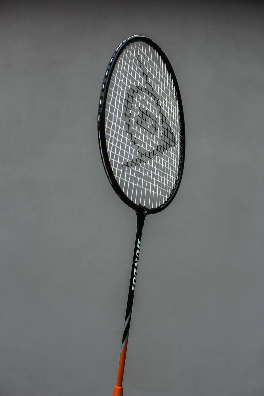 black and white badminton racket