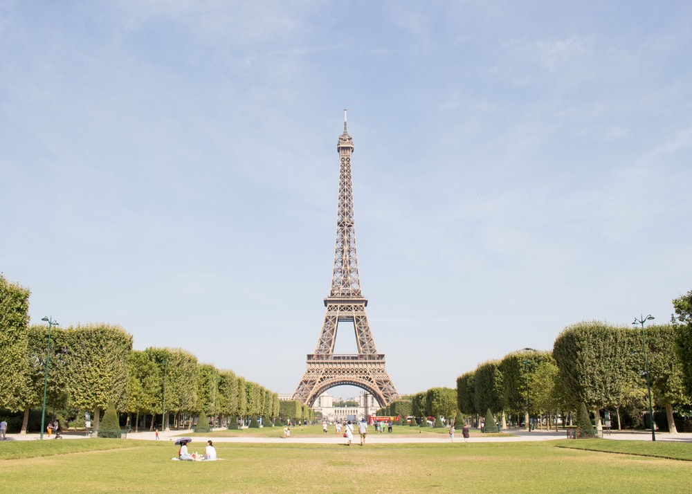 people gathering in front of Eiffel Tower