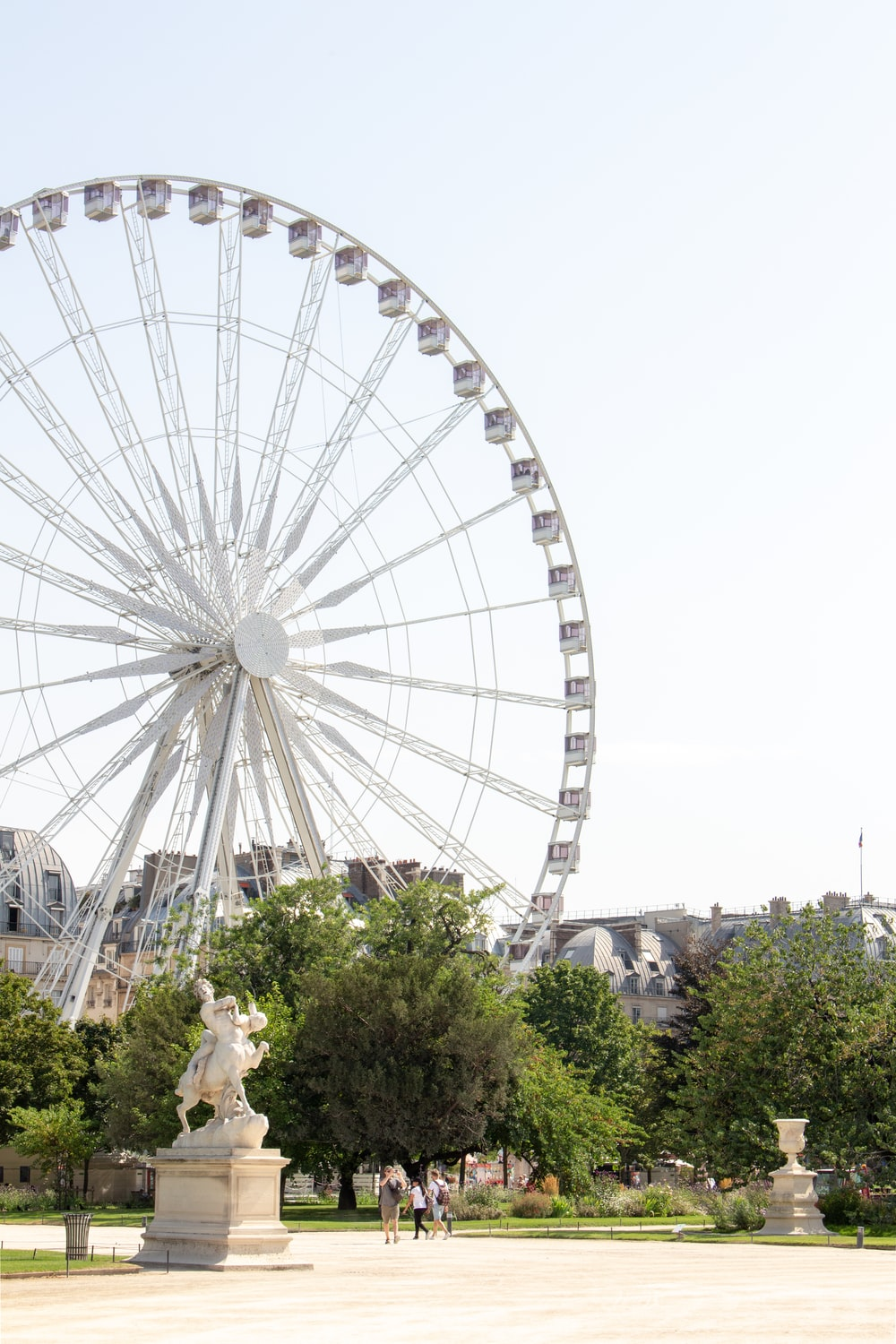 gray and white ferris whee l