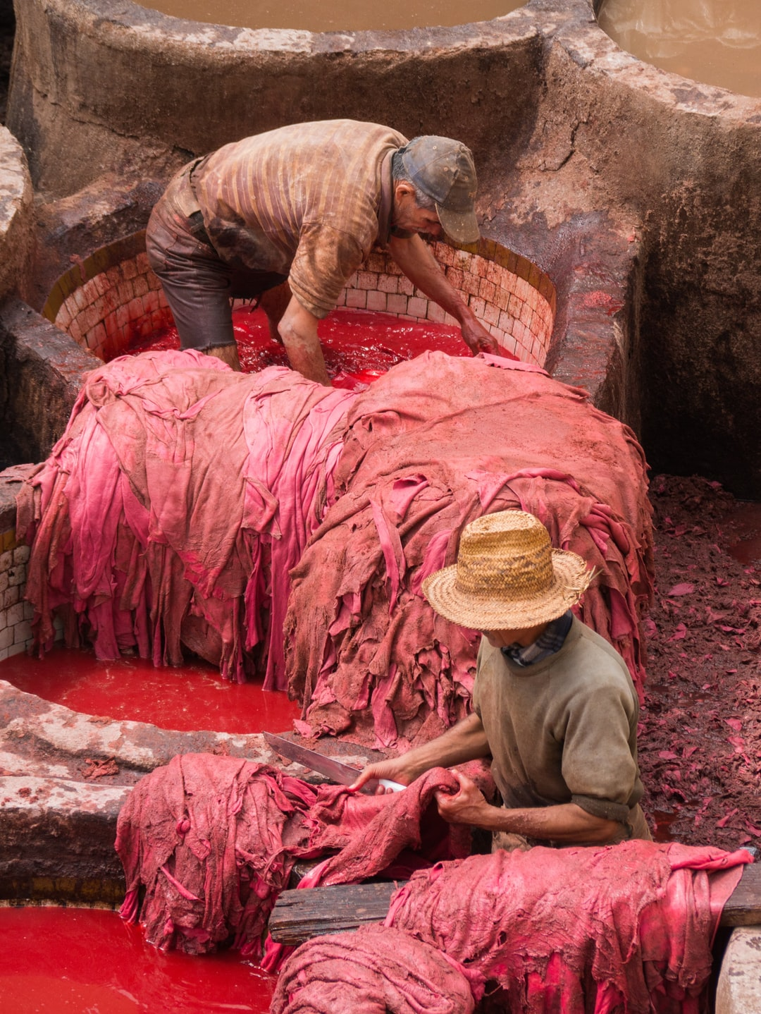 The tanners of Fez have been making leather in the same way since the 11th century. Through an odor of lime, feces, and animal skins the beauty of the tanneries and the workers show the rich history and culture of Morocco.