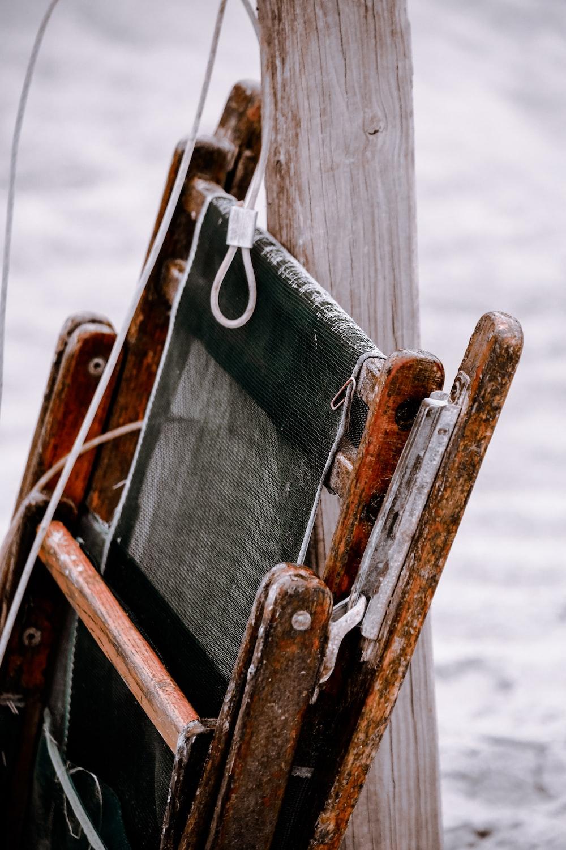 brown wooden frames during daytime