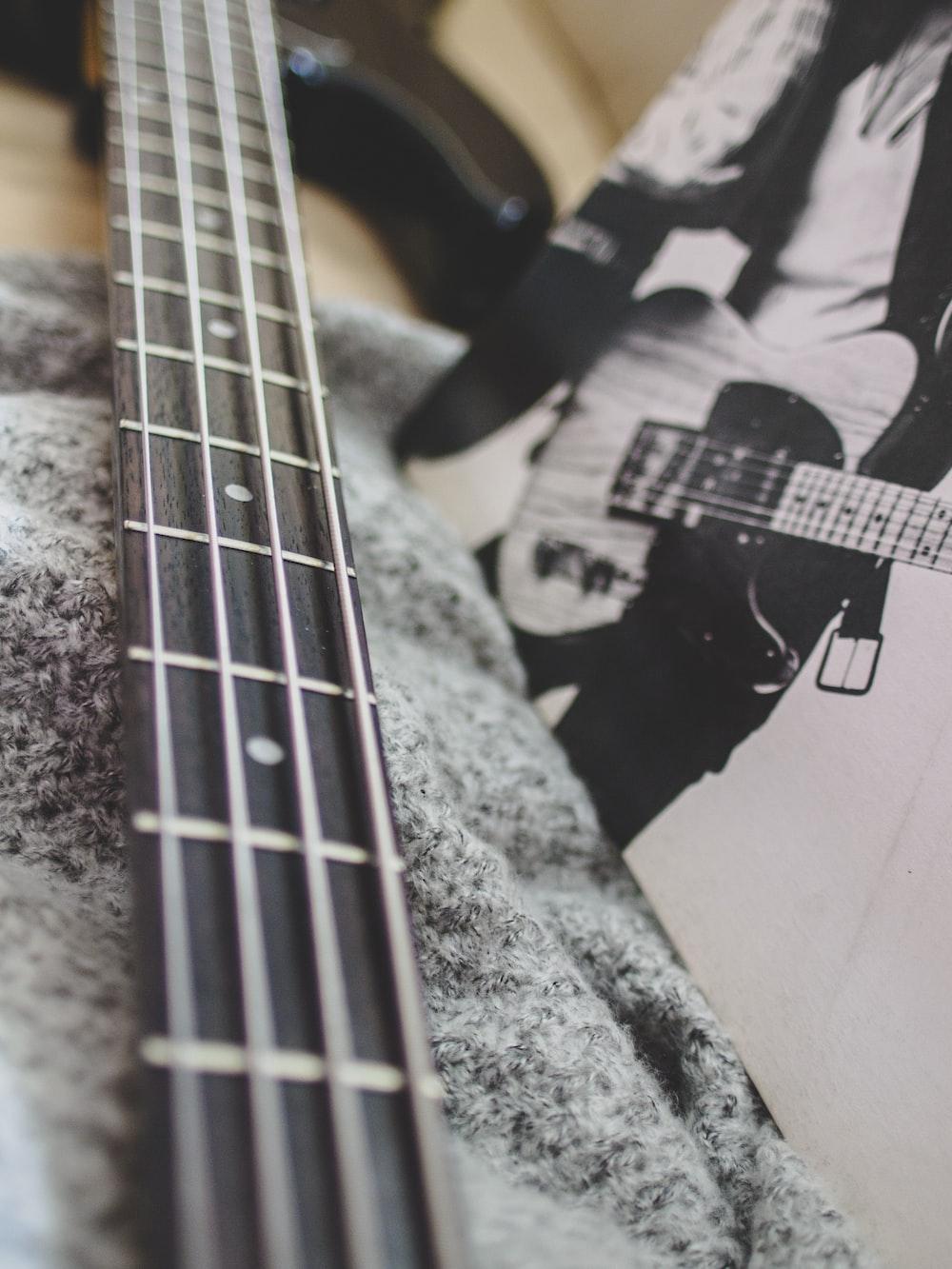 black bass guitar