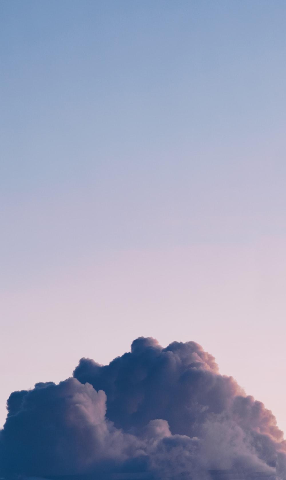 view of nimbus clouds