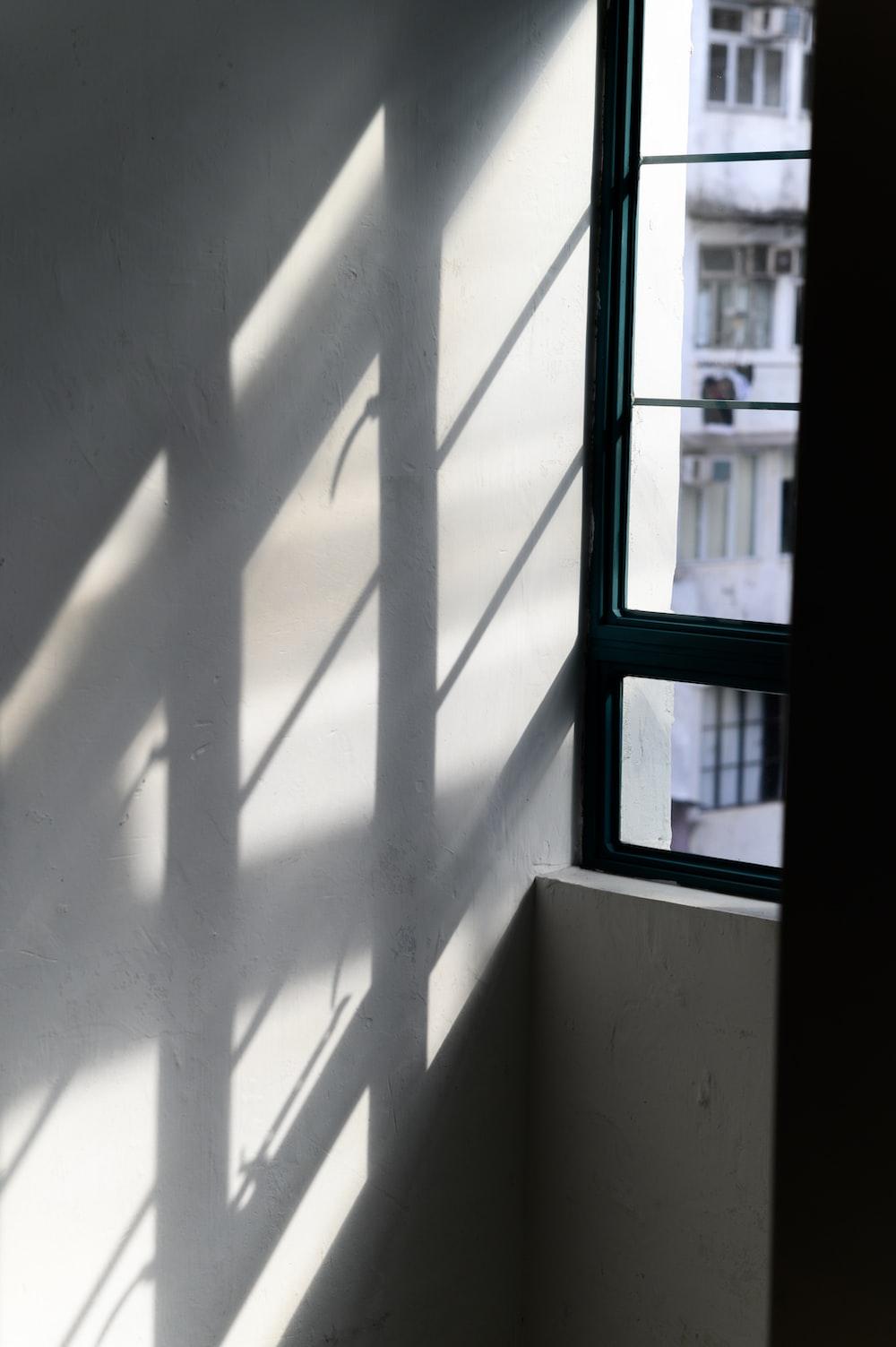 apartment corridor wall with window shadow