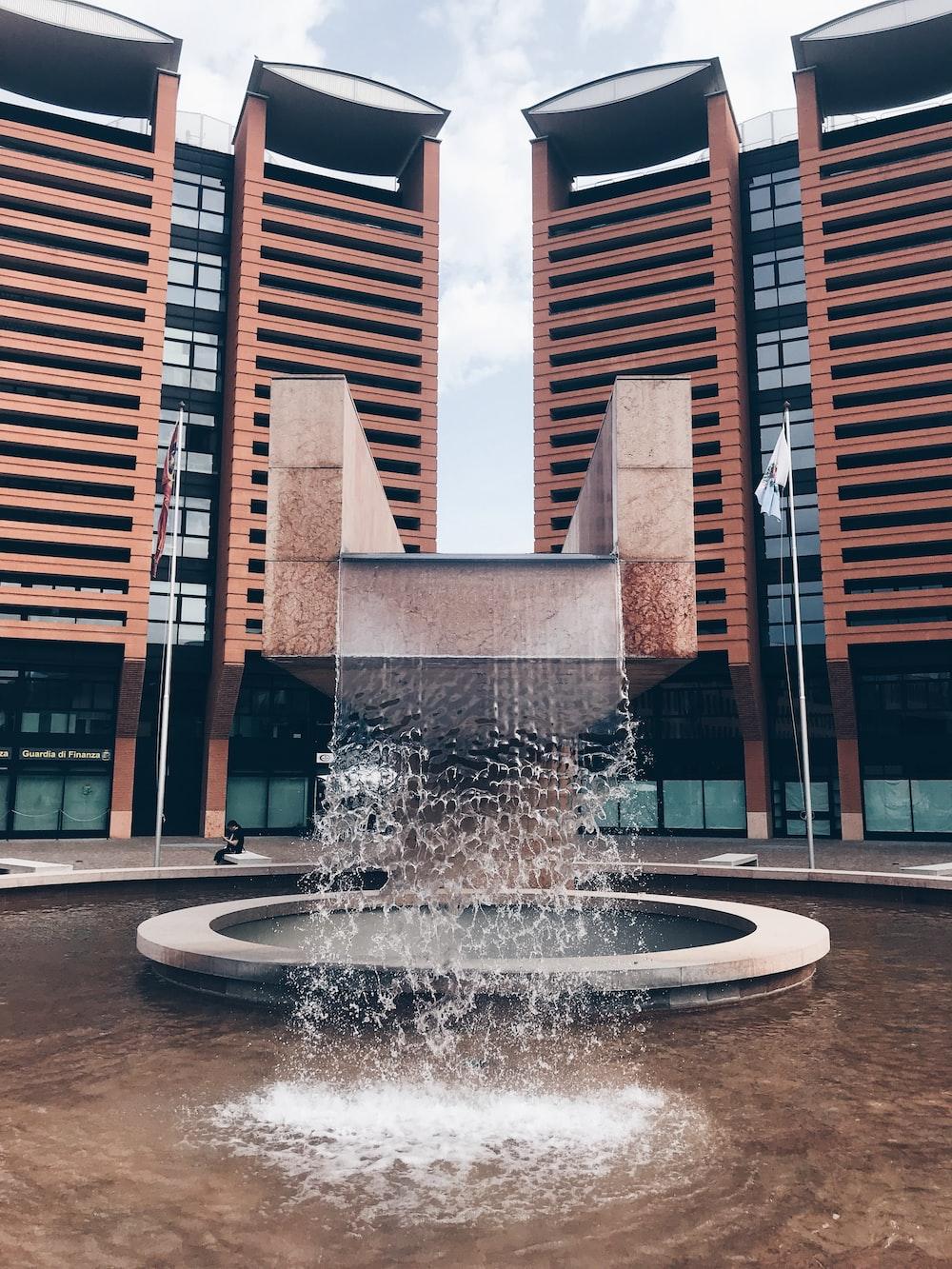 fountain near building