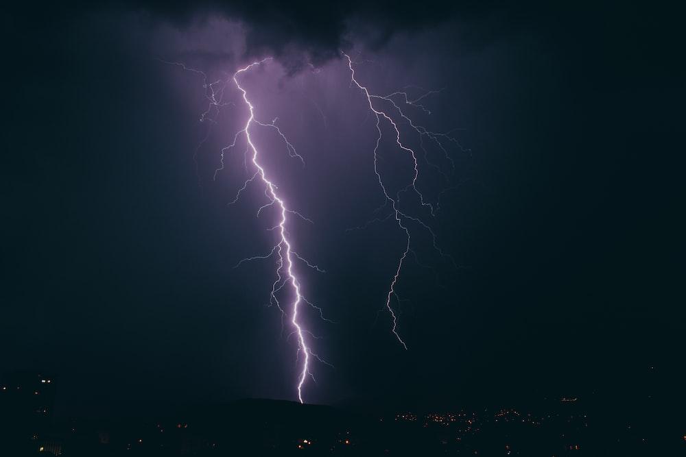 thunders at night