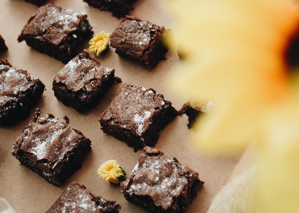 brownies in close-up photography