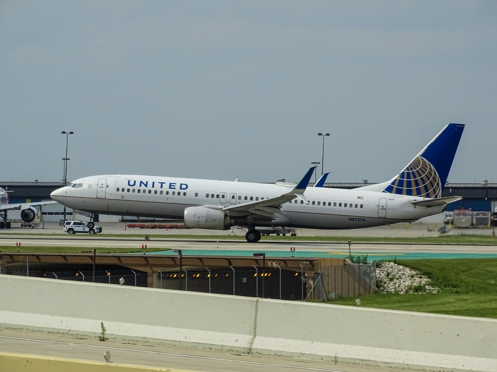United Airlines at the airport