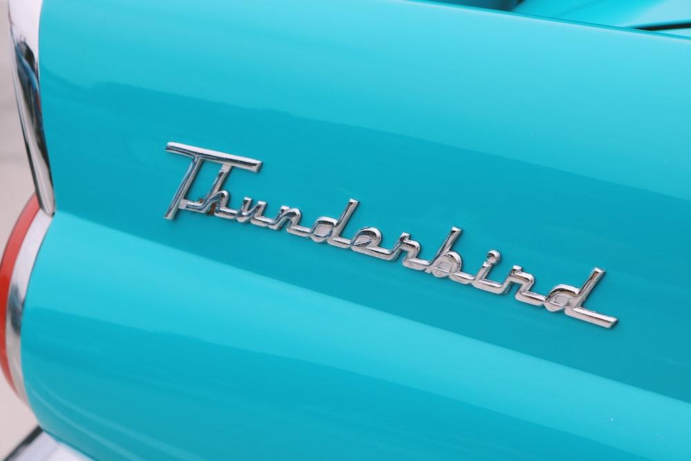 blue Pontiac Thunderbird logo