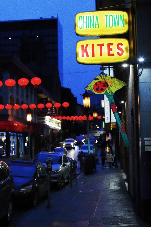 china town kites signage