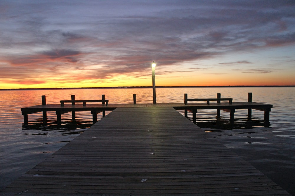 dock during sunset